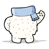 Cartoon polar bear body (mix and match or add own photos) — Stock vektor