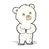 Filhote de urso polar dos desenhos animados — Vetor de Stock
