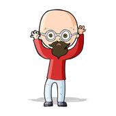 Cartoon stressed bald man — Stock Vector
