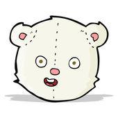 Cartoon polar teddy bear head — Stock Vector