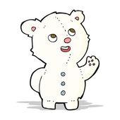 Cartoon cute polar bear cub — Stock Vector