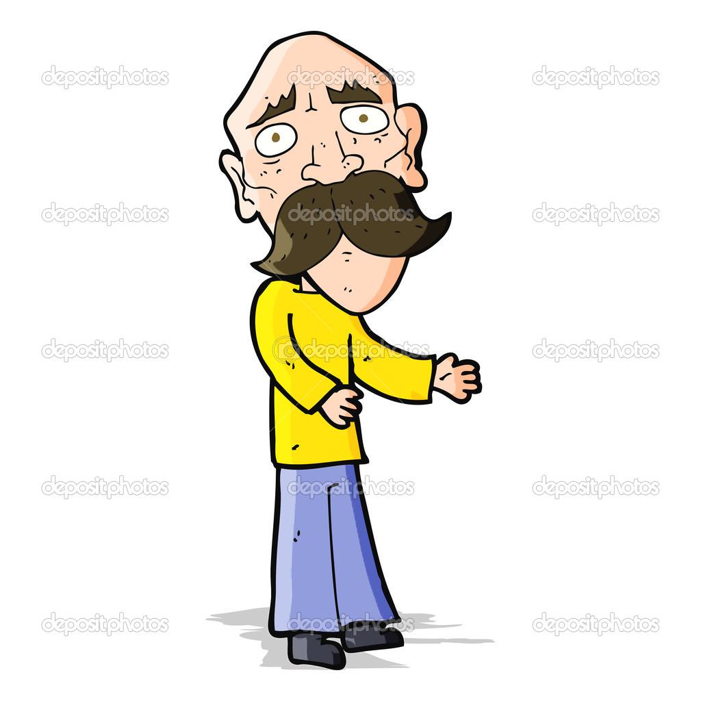 卡通孤独的老人 — 图库矢量图像08 lineartest