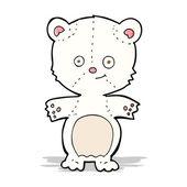 Cartoon happy polar bear — Stock Vector