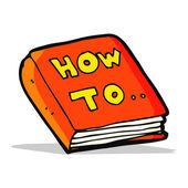 Cartoon how to book — Stock Vector