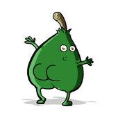 A nice pear cartoon — Stock Vector