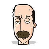 Cartoon bored old man — Stock Vector