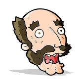 Cartoon shocked old man — Stock Vector