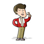 Cartoon cool guy snapping fingers — Stock Vector