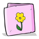Cartoon flower greeting card — Stock Vector