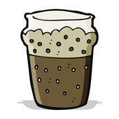 Cartoon glass of beer — Stock Vector