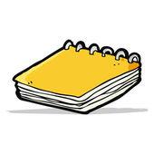 Cartoon notepad — Stock Vector