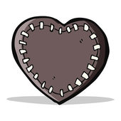 Cartoon stitched heart — Stock Vector