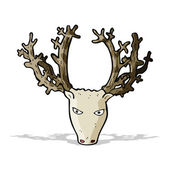 Cartoon stag head — Stock Vector