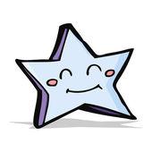 Gelukkige sterren stripfiguur — Stockvector