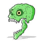 Мультфильм страшный череп — Cтоковый вектор