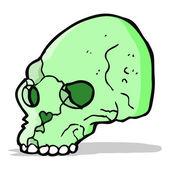 Cartoon spooky skull — Stock Vector