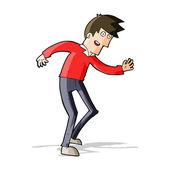 卡通快乐的男人跳舞 — 图库矢量图片