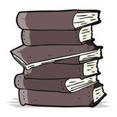 Cartoon pile of books — Stock Vector