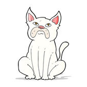 Cartoon grumpy little dog — Vector de stock