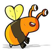 Cartoon happy bee — Stock Vector