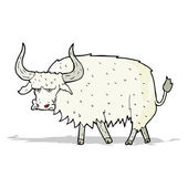 Cartoon annoyed hairy ox — Stockvector