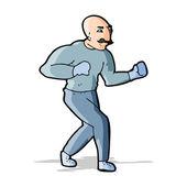 Cartoon viktorianischen boxer — Stockvektor