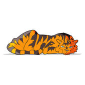 Cartoon resting tiger — Stock Vector