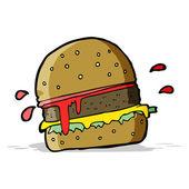 Cartoon burger — Stock Vector