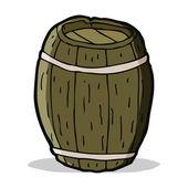 Cartoon wooden barrel — Stock vektor