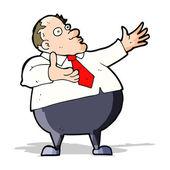 Cartoon aufgebrachten mittleren alter mann — Stockvektor