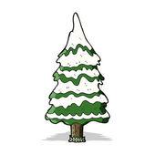 Cartoon snowy tree — Stock Vector