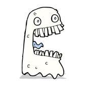 Fantasma bruto de dibujos animados — Vector de stock