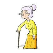 Cartoon old woman — Cтоковый вектор