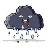 Cartoon raincloud — Stock Vector