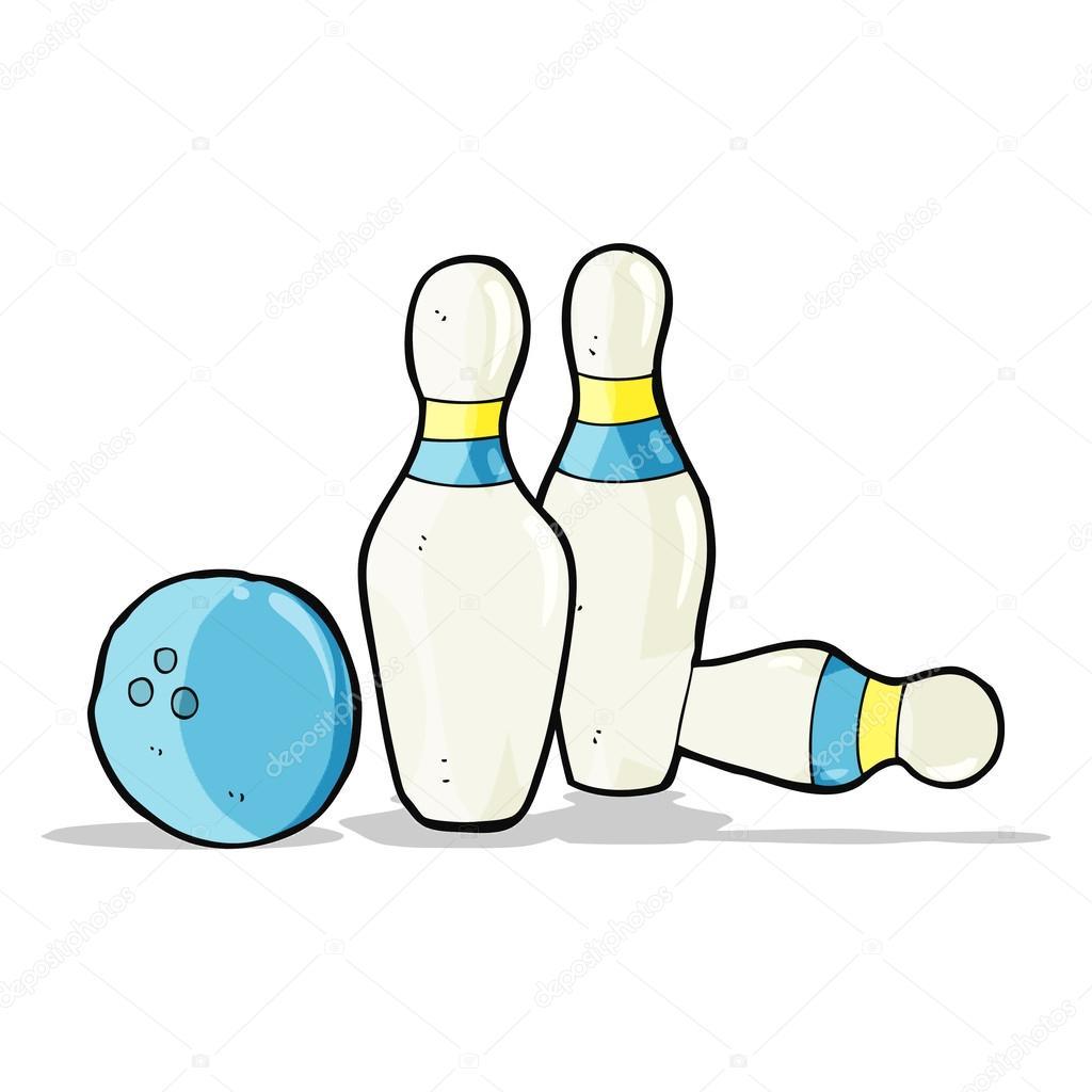 Boule de bowling dessin anim et jeu de quilles image vectorielle lineartestpilot 49981459 - Bowling dessin ...
