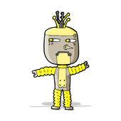 Cartoon waving robot — Stock Vector
