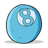 Bola de piscina de dibujos animados — Vector de stock