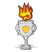 Cartoon trophy — Stock Vector