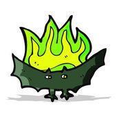 Cartoon spooky vampire bat — Stock Vector