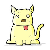卡通狗伸出舌头 — 图库矢量图片