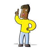 Cartoon man with complaint — Stock Vector
