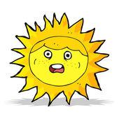Sun kreslená postavička — Stock vektor