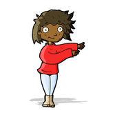 Cartoon dancing woman — Stock Vector