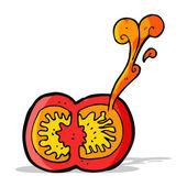 Cartoon juicy tomato — Stockvektor