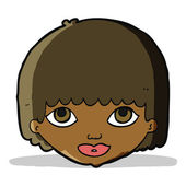 Cartoon female face — Wektor stockowy