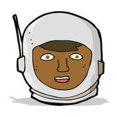 Cartoon astronaut hoofd — Stockvector