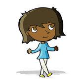 Cartoon girl with no worries — Stock Vector