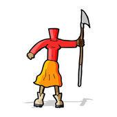 Cartoon female body (add photos or mix and match cartoons) — Stockvektor