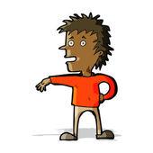Cartoon man making dismissive gesture — Stockvektor