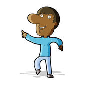Cartoon happy man dancing — Stockvector